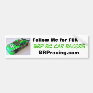 Los corredores del coche de BRP RC me siguen para  Etiqueta De Parachoque