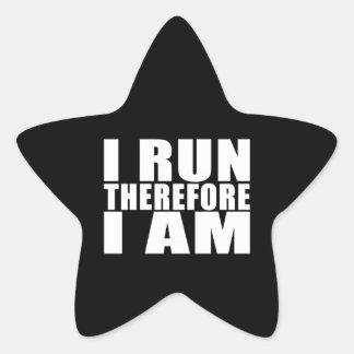Los corredores divertidos citan chistes que me pegatina en forma de estrella