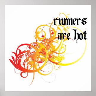 Los corredores son calientes poster
