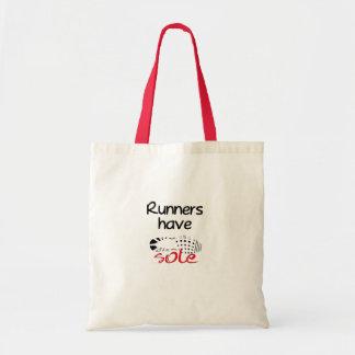 Los corredores tienen único tote bolsa lienzo