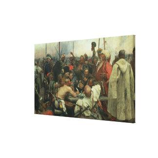 Los Cossacks de Zaporozhye Impresión En Lienzo
