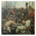 Los Cossacks de Zaporozhye que escriben una letra Tejas Cerámicas