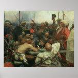 Los Cossacks de Zaporozhye que escriben una letra Impresiones