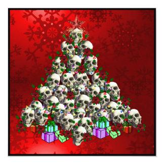"""Los cráneos del navidad invitación 5.25"""" x 5.25"""""""
