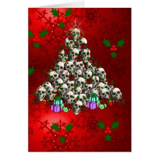 Los cráneos del navidad tarjeta de felicitación
