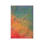 Los cráteres de luna envolvieron la lona lona estirada galerias