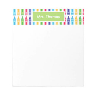 Los creyones coloreados multi personalizaron la bloc de notas