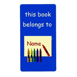 Los creyones colorean mi etiqueta conocida del Boo Etiquetas De Envío