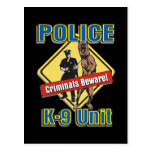 Los criminales K9 se guardan Tarjeta Postal