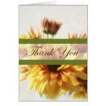 Los crisantemos 1 del oro y de Brown le agradecen Felicitacion