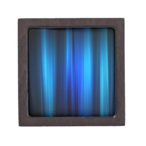 Los cristales abstractos estiraron barras azules cajas de recuerdo de calidad