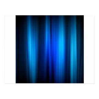 Los cristales abstractos estiraron barras azules tarjeta postal