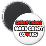Los cristianos hacen a grandes amantes imán de frigorifico