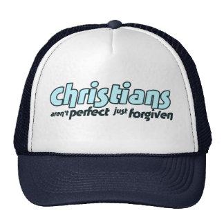 Los cristianos no son perfectos apenas perdonados gorra