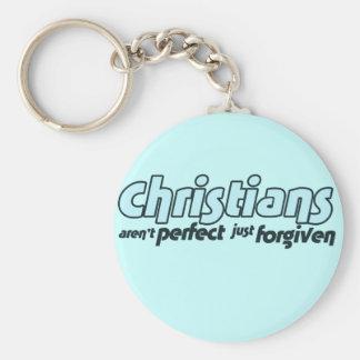 Los cristianos no son perfectos apenas perdonados llaveros personalizados