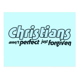 Los cristianos no son perfectos apenas perdonados tarjeta postal