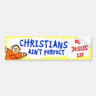 Los cristianos no son perfectos pegatina para auto