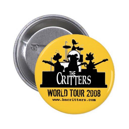 ¡Los Critters! botones del concierto Pin Redondo De 2 Pulgadas