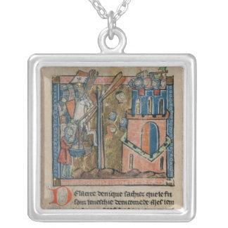 Los cruzados bombardean Nicaea con las cabezas en  Collar Plateado