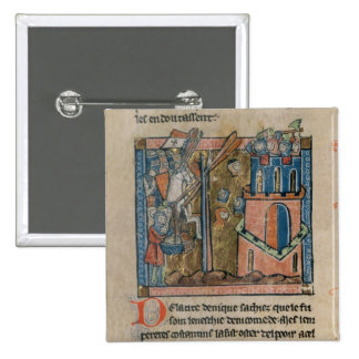 Los cruzados bombardean Nicaea con las cabezas en  Pin Cuadrado