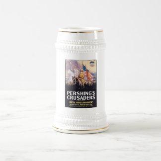 Los cruzados de Pershing Jarra De Cerveza