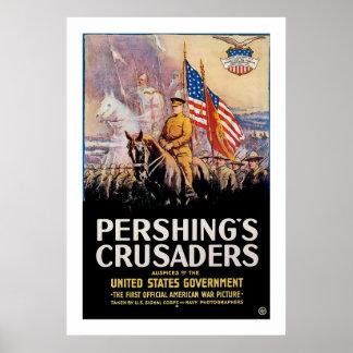 Los cruzados de Pershing Póster