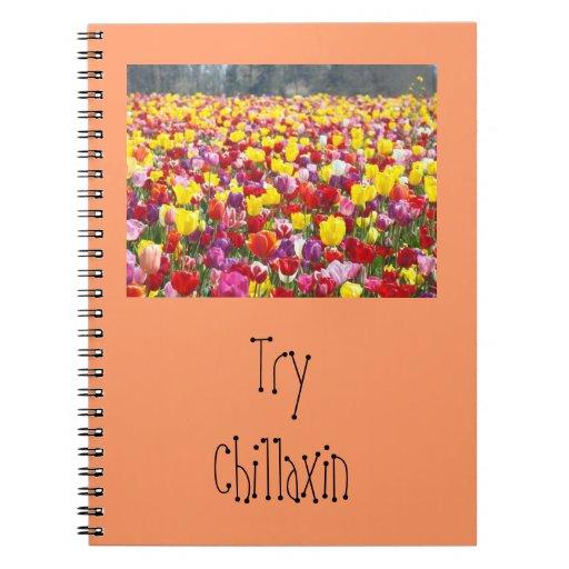 Los cuadernos de Chillaxin del intento personaliza