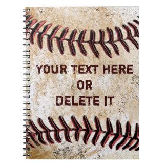 Los cuadernos del béisbol del vintage