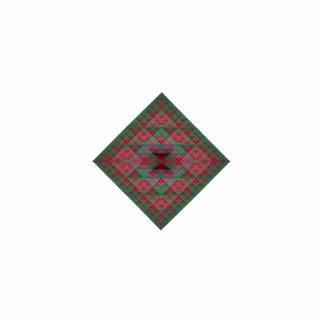 Los cuadrados de Serpinski acolcharon fractal del Adorno Fotoescultura