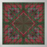 Los cuadrados de Serpinski acolcharon fractal del  Poster