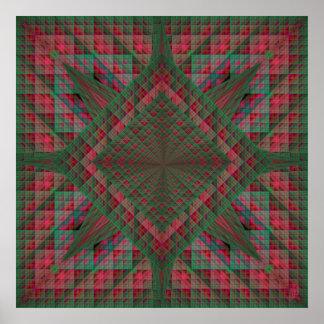 Los cuadrados de Serpinski acolcharon fractal del