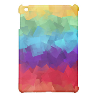 Los cuadrados del color del arco iris se mezclan