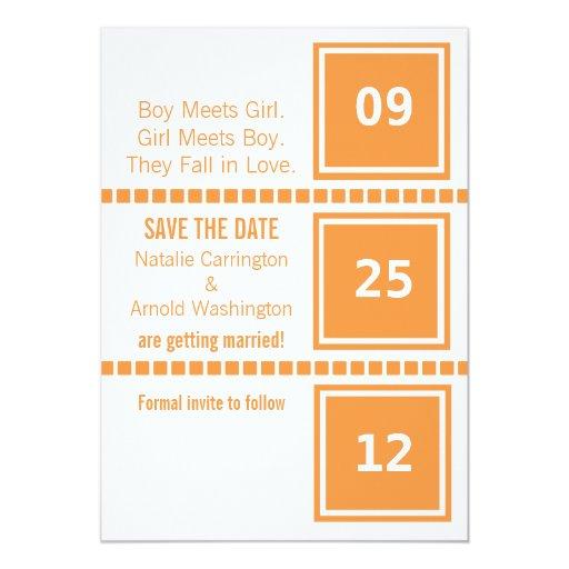 Los cuadrados elegantes modernos ahorran la invitación 12,7 x 17,8 cm