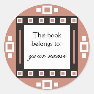Los cuadrados modernos personalizaron Bookplates