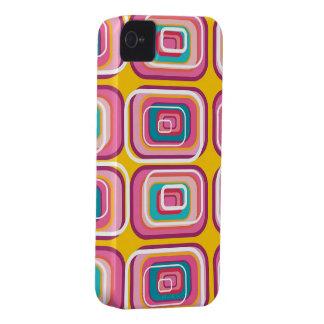 Los cuadrados rosados retros modelan la casamata Case-Mate iPhone 4 protectores