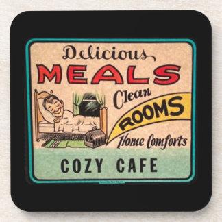 Los cuartos limpios de las comidas deliciosas del posavaso