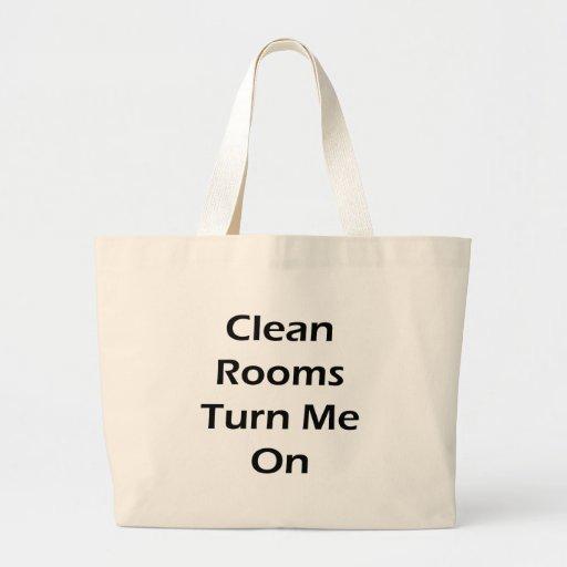 Los cuartos limpios me giran bolsa tela grande