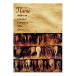 Los cuartos traseros de los caballos, monograma de plantillas de tarjeta de negocio