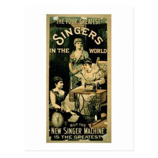 'Los cuatro cantantes más grandes del mundo, pero Postal