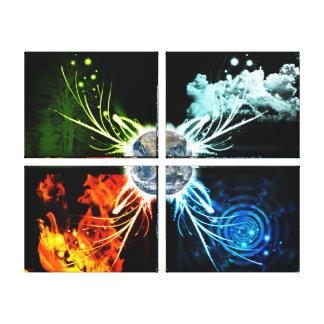 Los cuatro elementos impresión en lona estirada
