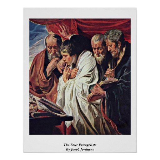 Los cuatro evangelistas de Jacob Jordaens Póster