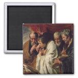 Los cuatro evangelistas imán cuadrado