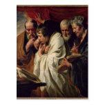 Los cuatro evangelistas postales