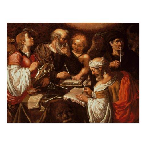 Los cuatro evangelistas tarjeta postal
