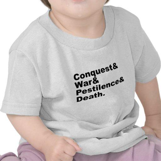 Los cuatro jinetes - muerte de la peste de la guer camisetas