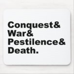 Los cuatro jinetes - muerte de la peste de la guer tapete de raton