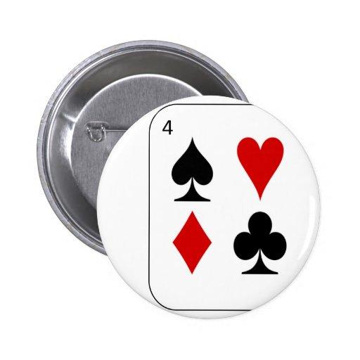 Los cuatro juegos de la tarjeta pin