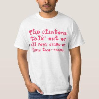 Los cuatro lados de las dos-caras de Clintons Remeras