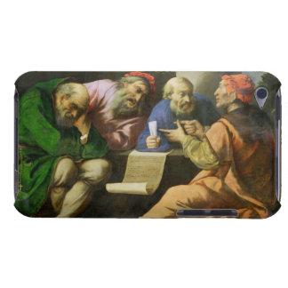 Los cuatro padres de la iglesia aceite en la lona Case-Mate iPod touch coberturas