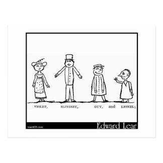 Los cuatro pequeños niños que fueron alrededor del tarjeta postal